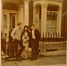 With Brian and Alan, Spring 1968 just before I met Lemmy.